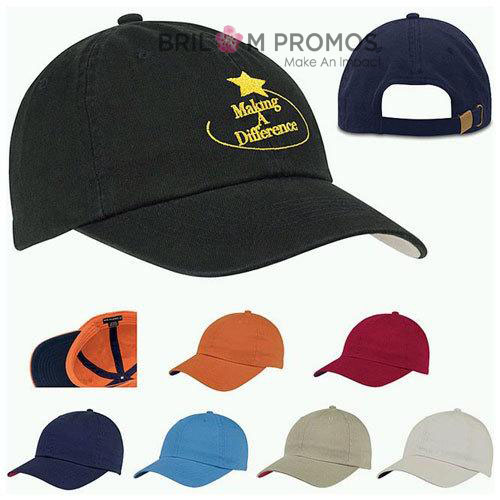 6 Panel Promotional Baseball Cap With Embroidery Logo
