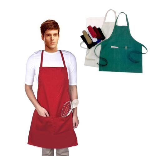Cotton Apron with Pouch Pocket
