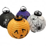 Hand Made Halloween Paper Lantern With LED Lamp