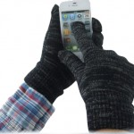 Logo Printed Winter Warm Touch Screen Gloves
